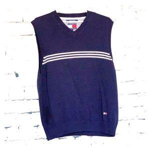 Men's Tommy Hilfiger Blue Striped Sweater Vest